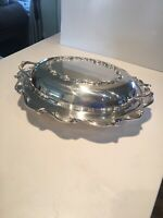 "Webster Wilcox #7212 International Silver Co. Oval 11"" Vegetable W/Lid EUC"