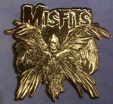 THE MISFITS descending angel EMBROIDERED IRON-ON PATCH crimson ghost beware