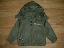 BENCH Boys Khaki Green Hooded Coat Anorak Jacket Age 6-12m Immaculate