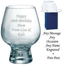 Personalised Engraved 660ml GIN, WINE BEER glass 40th 50th 60th beGIN Xmas Gift