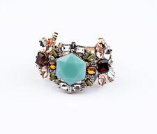 Bracelet Femme Cristal Bleu Fleur Vintage Original Soirée Mariage Cadeau CT3