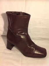 Clarks Brown Ankle Leather Boots Size 7