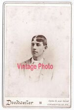 Cabinet Card Portrait of Young Man with Artistic Hair Dockweiler Girardville PA