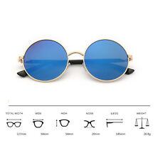 Vintage Polarized John Lennon Sunglasses Hippie Retro Round Mirrored Glasses ++