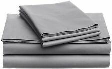 Luxury-USA Bedding All Item & Size Plain 100% Pima Cotton 1000 TC Light Grey