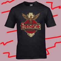 Flandria Motorcycles Logo Men's Black T-Shirt Size S-3XL