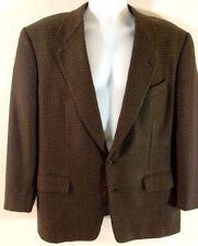 GIEVES & HAWKES Philip Brown Green Houndstooth Blazer Sportcoat Jacket 42R Reg