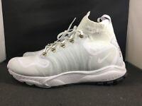 Nike Zoom Talaria Mid Flyknit Sneaker Shoes - White 856957-100 SZ 13