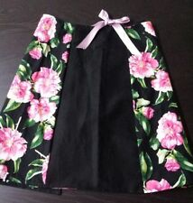 Knee-Length Wrap, Sarong Floral Skirts for Women