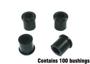 Whiteline W71021/100 Spring Eye Rear And Shackle Bushing fits Holden Rodeo 1....