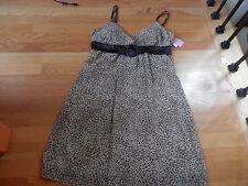 NWT Soulmates Brown Animal Print Dress Sundress Junior  Size Medium