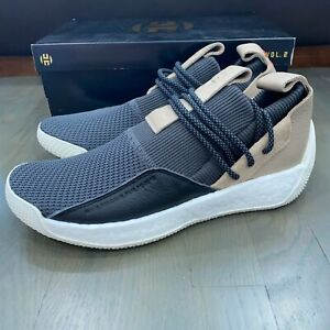 Adidas Harden LS 2 Grey Brown Basketball Shoes B28170 Men's Size 11.5 James New