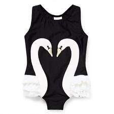 Girls Animal Swan Bird Swimwear Swimming Costume Beach Summer Bathing Swim Suit