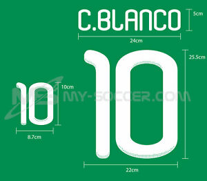 MEXICO Home World Cup 2010 REPRODUCTION PU Name Number