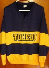 TOLEDO UNIVERSITY med sweatshirt ROCKETS crewneck 1980s two-tone stripes Rudman