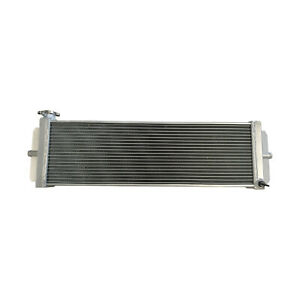 3 Row Universal Aluminum Radiator Heat Exchanger Air to Water Intercooler Silver