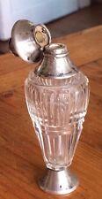 Flacon Parfum Cristal Argent Massif Pays Bas Poincon XIX Usures