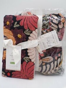 Pottery Barn Helena Embroidered Floral Duvet Cover Full Queen 1 Sham Multi #A37