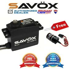 Savox SC-1258TG-BE Coreless Digital Servo Black+ Free Glitch Buster