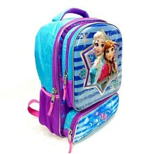 "Disney Frozen 16"" Backpack Elsa and Anna Sisters are Magic Bookbag New"