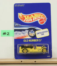 Hot Wheels Old Number 5 LTD ED Yellow    B9