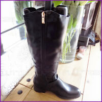Womans Boots Fluffy faux Fur Lined Faux soft Leather Riding Ladies Size 3 4