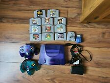 Grape N64 Nintendo 64. 11 games. Mario, Zelda and Golden Eye.