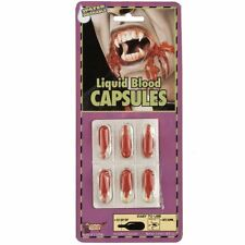 Fake Red Blood Caps Capsules Vampire Theatrical Stage Makeup Costume Accessory
