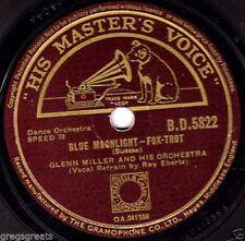 Glenn Miller 78 RPM Vinyl Records