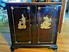Vintage wood cabinet middle east brass design