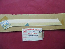 AUTOCOLLANT NEUF ORIGINE HONDA 125 NSR / TYPE TC 01 REF.83502-KR1-860ZA
