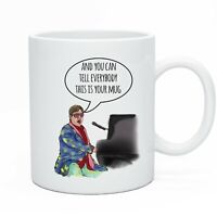 Funny Novelty Tea & Coffee Mug Cup Elton John Gift Present Idea Men Women Work