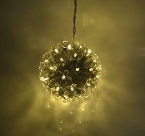 LUMIDA Casa beleuchtete Blütenkugel Timerfunktion Ø ca. 12 cm Transparent / Gelb