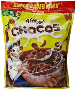 Chocolate Flavoured Whole Grain Cereal Made From Wheat Kellogg's Chocos,1.2kg,