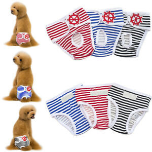 Washable Female Dog Puppy Pet Nappy Diapers Season Menstrual Sanitary Pants