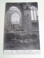 Vintage Postcard The Abbey Church Selby Built 1097 Destroyed by Fire 1906