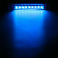 10 Pcs Ice Blue 9 LED Bus Truck Trailer Side Marker Indicators Lights Waterproof