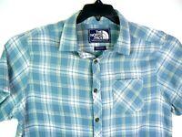The North Face men's short sleeve cotton plaid button up shirt size L