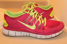 Nike Free 5.0 Women's Pink/Neon yellow Running Shoes Sz: 9