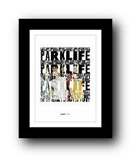 More details for blur parklife #3  ❤  song lyrics typography poster art print