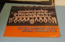 1972 Baltimore Orioles Boston Red Sox Baseball Game Program Team Photo Cover