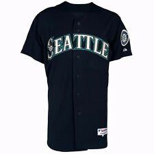 MLB Official Majestic Authentic On-field Home Road Alt Men's Jersey Collection Seattle Mariners 2 Navy 48