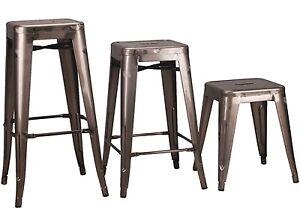TOLIX INSPIRED METAL BAR STOOL STEEL INDUSTRIAL BREAKFAST BAR CAFE GARDEN