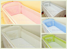 BABY Nursery ALL ROUND COT BUMPER  to fit Cot or Cot Bed HEARTS  S A L E!!!!