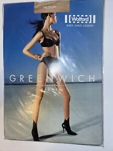 Wolford Greenwich Tights Color: Cosmetic/Black  Size: Medium 18216 - 12