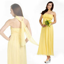 Full-Length Empire Waist Solid Dresses for Women