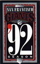 1992 SAN FRANCISCO GIANTS POCKET SCHEDULE - BEAUTIFUL FOLD OUT