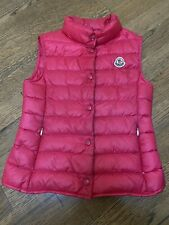 Moncler Girl Quilted Snap Front Pink Vest Size 6