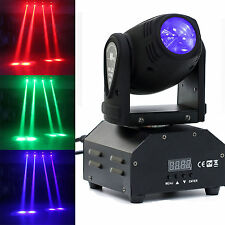 60W LED Mini Moving Head Beam Lights DMX512 Stage Lighting Party DJ Lights