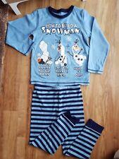 Disney Mothercare Frozen OLAF Snowman Christmas Pyjama Set 4-5 Yrs